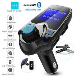 Wireless Car FM Transmitter Radio Adapter USB Charger LCD MP